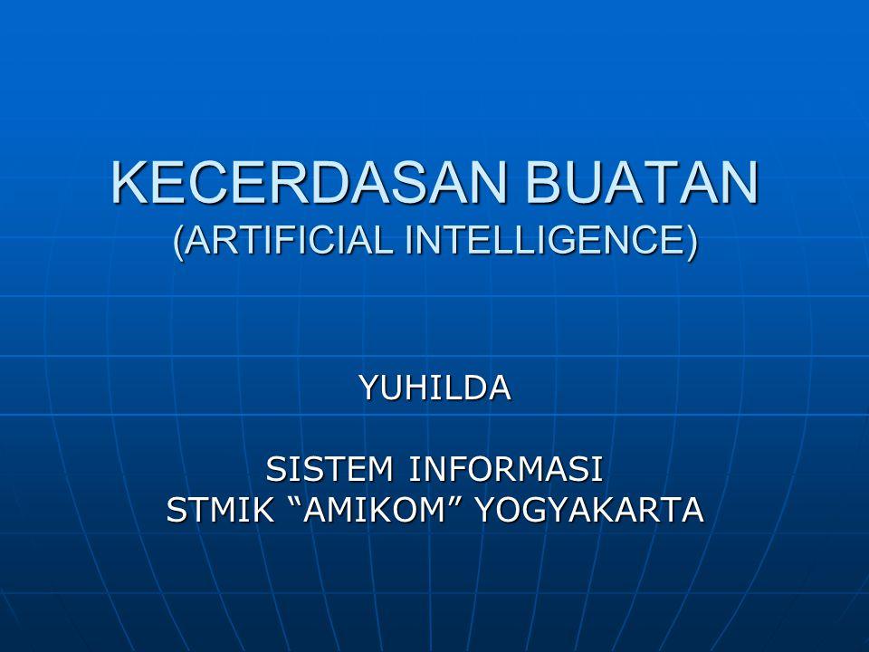 """KECERDASAN BUATAN (ARTIFICIAL INTELLIGENCE) YUHILDA SISTEM INFORMASI STMIK """"AMIKOM"""" YOGYAKARTA"""