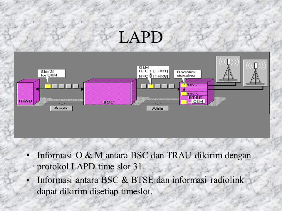 Pensinyalan kanal trafik antara MSC dan BSC diatur oleh protokol pensinyalan n0. 7 CCITT Kanal pensinyalan dilewatkan melalui TRAU transparently (buka