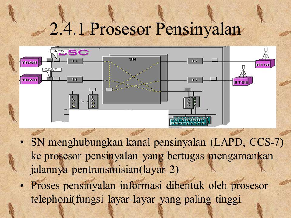 LAPD Informasi O & M antara BSC dan TRAU dikirim dengan protokol LAPD time slot 31 Informasi antara BSC & BTSE dan informasi radiolink dapat dikirim d