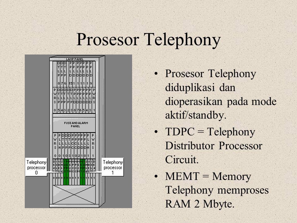 Prosesor SS7 Prosesor SS7 diduplikasi. Modulnya disebut PPCC(0;1) dan dioperasikan pada mode aktif/standby. PPCC dapat memproses 4 kanal sinyal n0.7