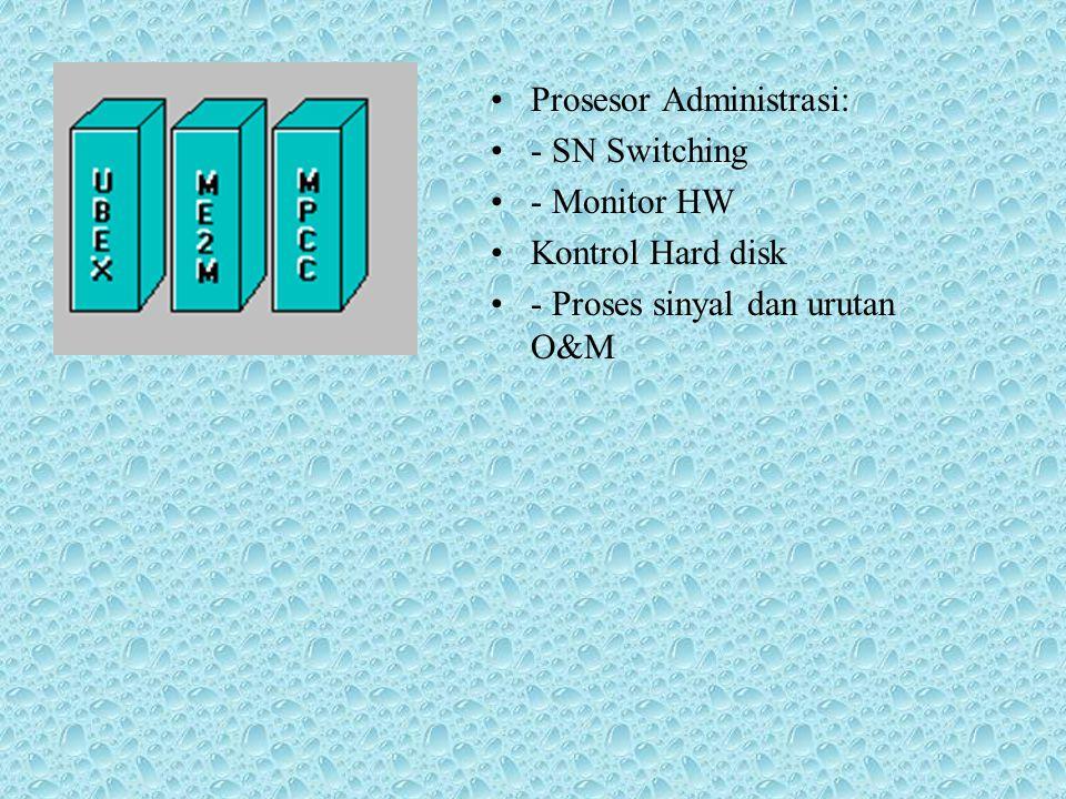 SN64 : merupakan suatu Switching Network untuk melewatkan kana trafik dan routing kanal sinyal (CCS7,LAPD) Telephony Processor: fungsi peralatan layar