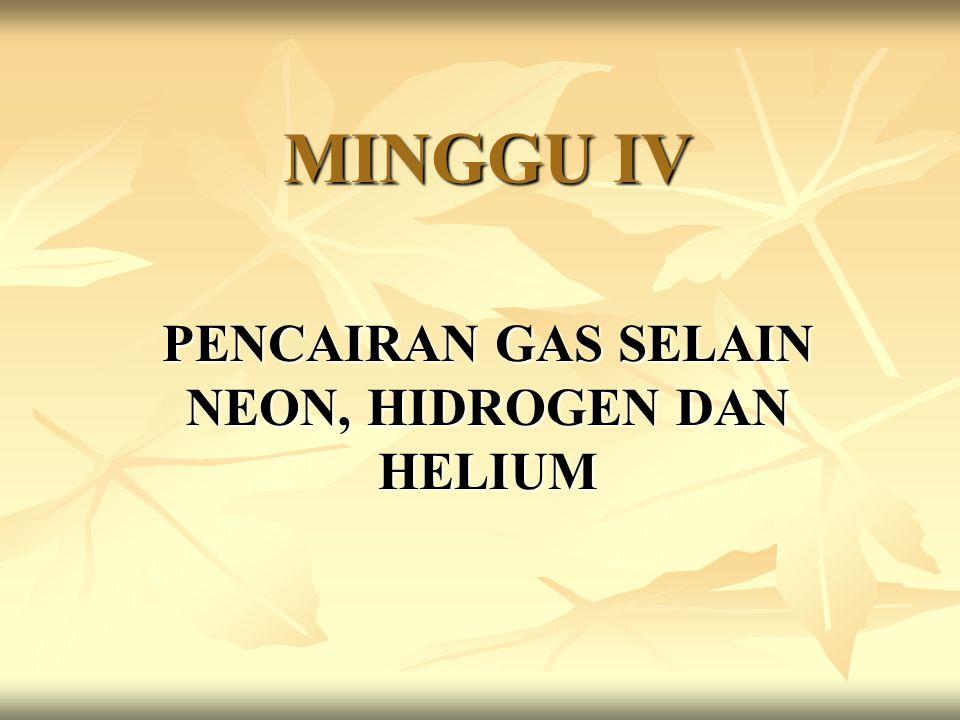 MINGGU IV PENCAIRAN GAS SELAIN NEON, HIDROGEN DAN HELIUM