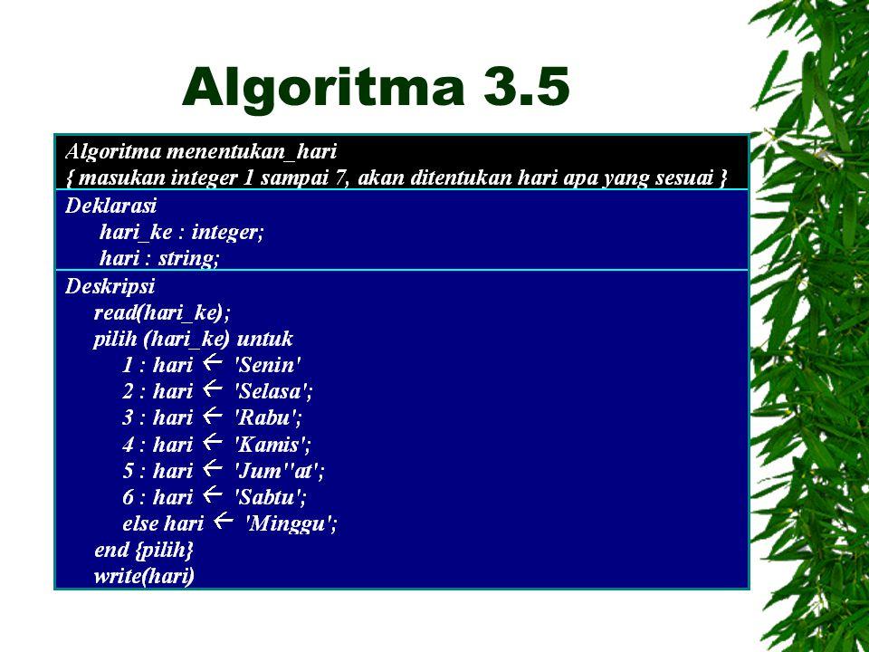 Algoritma 3.5