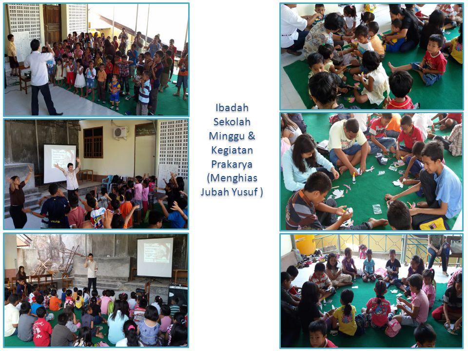 Ibadah Sekolah Minggu & Kegiatan Prakarya (Menghias Jubah Yusuf )