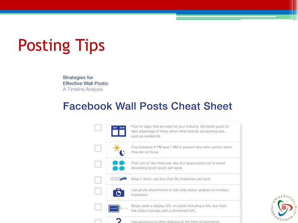 Posting Tips