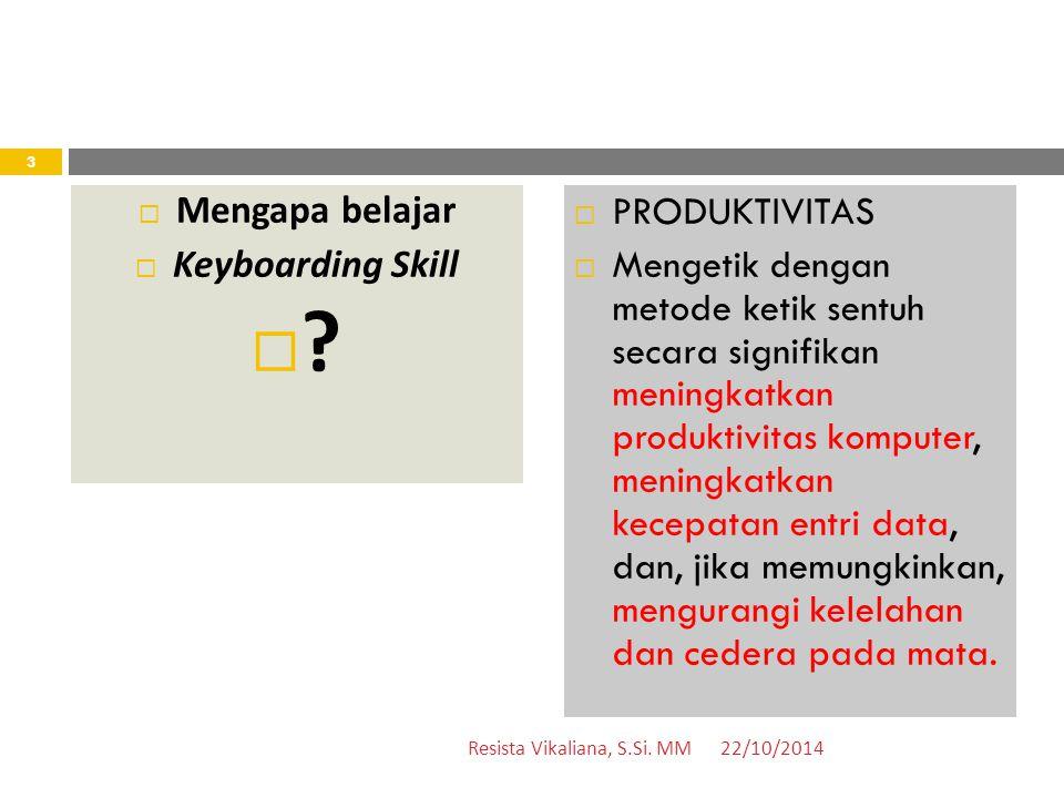 Ketik 5 baris! 22/10/2014Resista Vikaliana, S.Si. MM 34  bisnis  manajemen