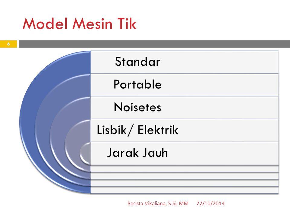 Model Mesin Tik 22/10/2014Resista Vikaliana, S.Si.