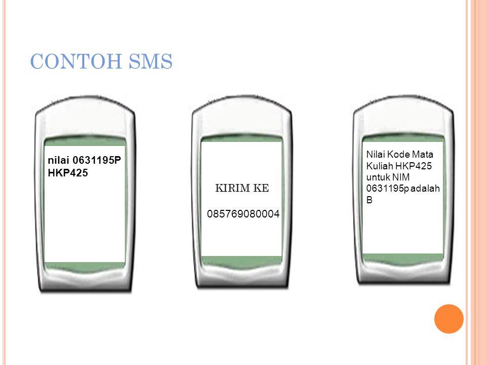 SMS CENTER SEMUA SMS DIKIRIM KE 085769080004