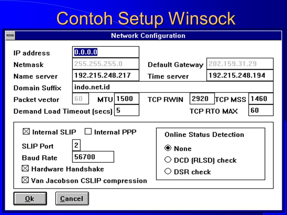 Computer Network Research Group ITB Contoh Setup Winsock