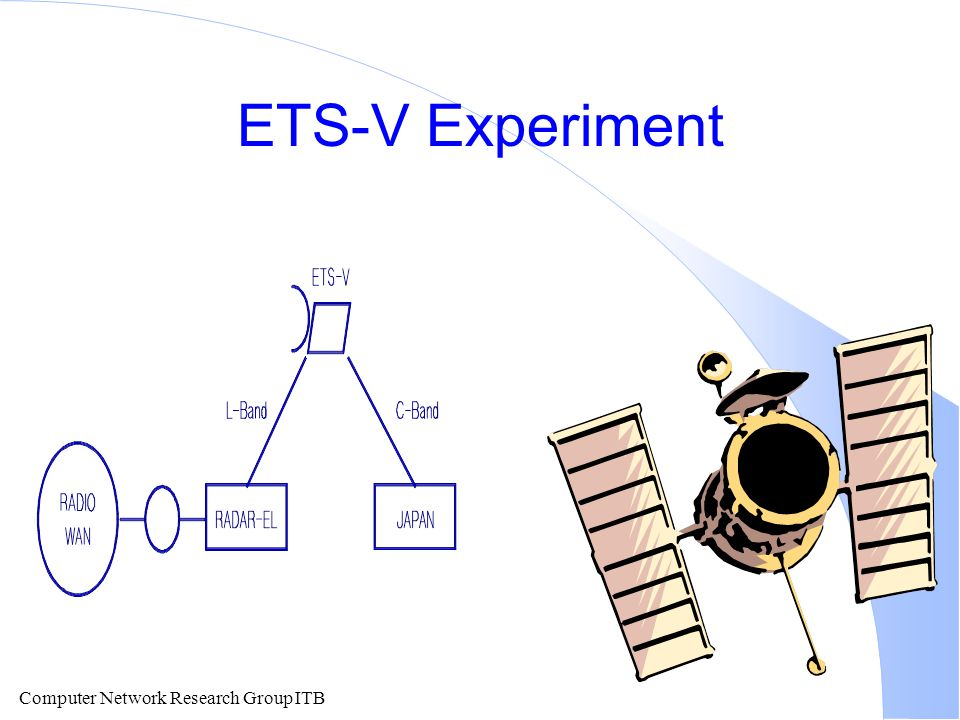 Computer Network Research Group ITB ETS-V Experiment