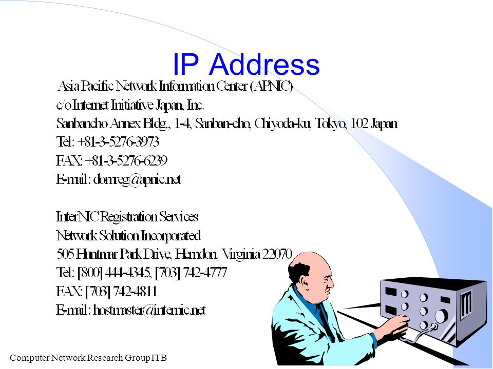 Computer Network Research Group ITB IP Address