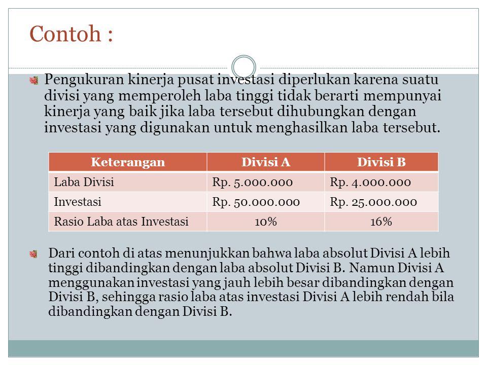 Penentu Elemen Aktiva sebagai Dasar Investasi 1.