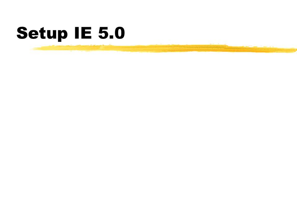 Setup IE 5.0