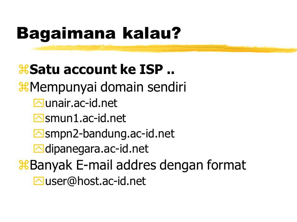 Bagaimana kalau. zSatu account ke ISP..