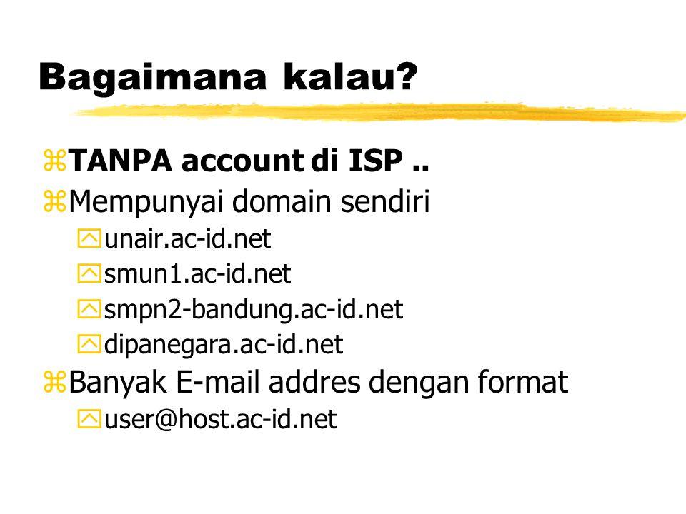 Bagaimana kalau. zTANPA account di ISP..