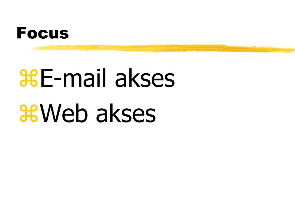 Focus zE-mail akses zWeb akses