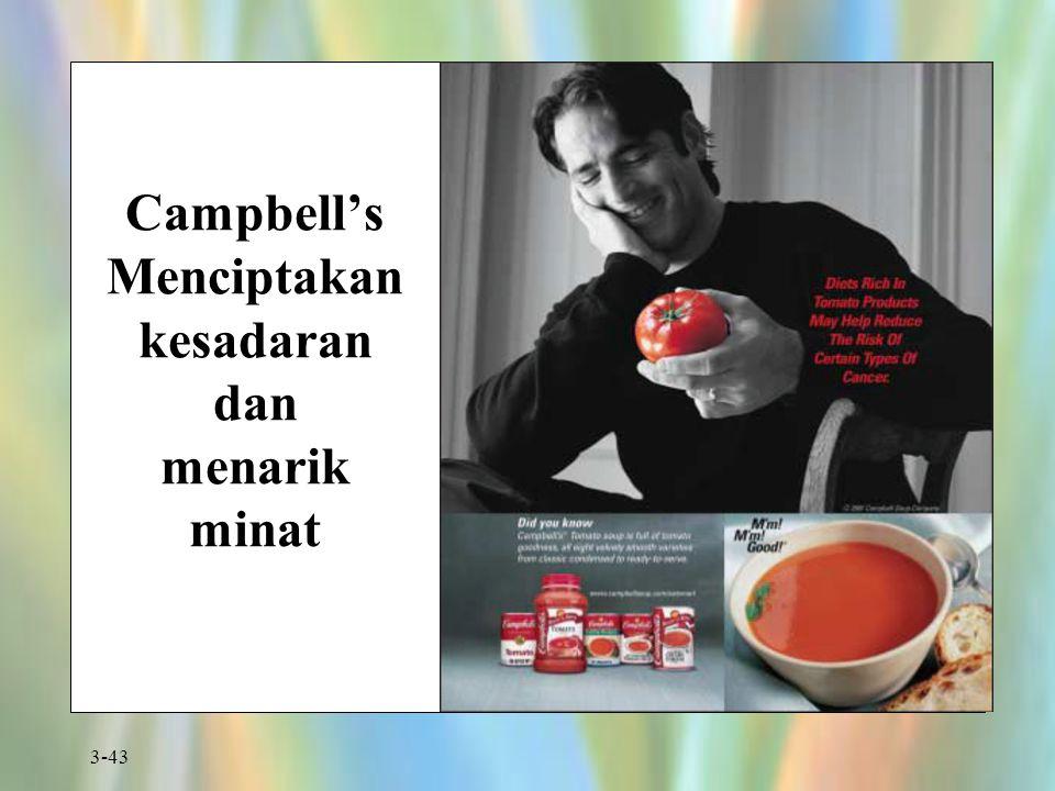 3-43 Campbell's Menciptakan kesadaran dan menarik minat