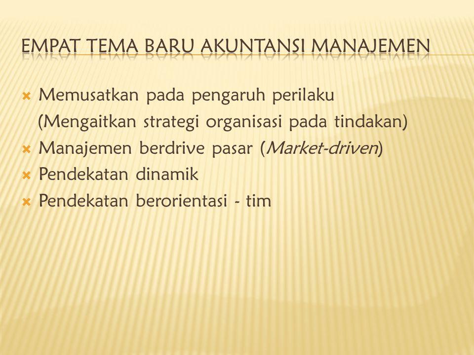  Memusatkan pada pengaruh perilaku (Mengaitkan strategi organisasi pada tindakan)  Manajemen berdrive pasar (Market-driven)  Pendekatan dinamik  P