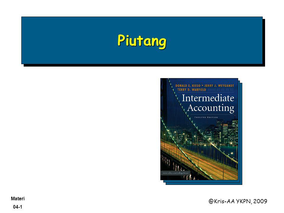 Materi 04-1 @Kris-AA YKPN, 2009 PiutangPiutang