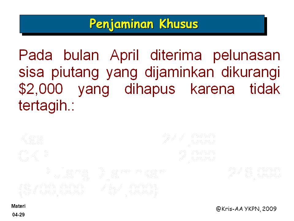 Materi 04-29 @Kris-AA YKPN, 2009 Penjaminan Khusus