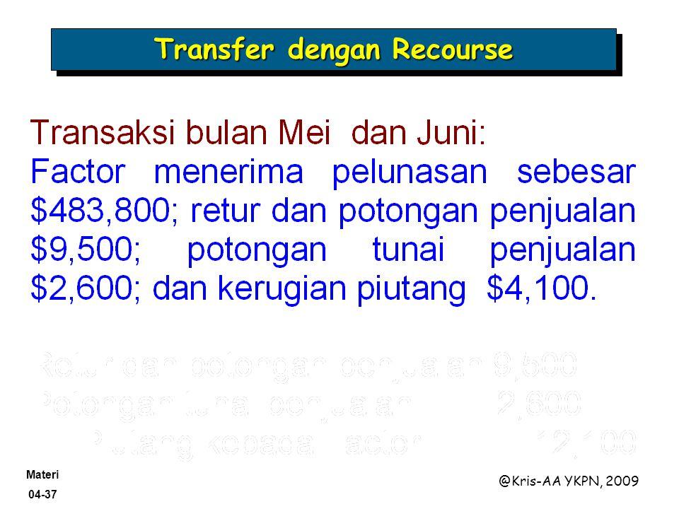 Materi 04-37 @Kris-AA YKPN, 2009 Transfer dengan Recourse
