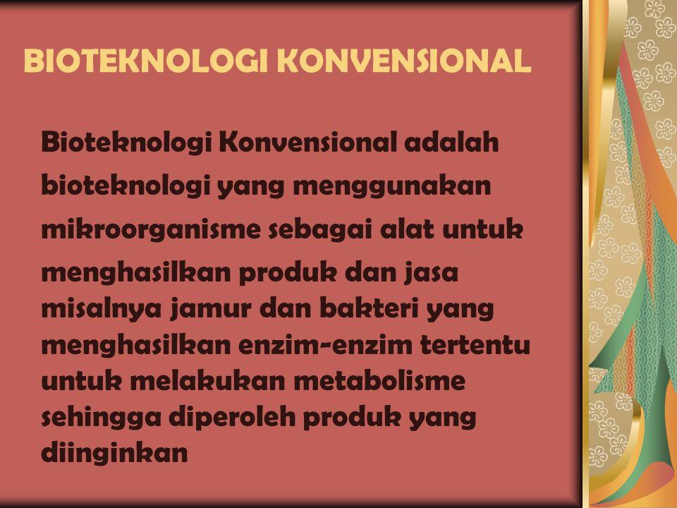 Lanjutan… Ilmu-ilmu pendukung dalam Bioteknologi meliputi mikrobiologi, biokimia, genetika,biologi sel,teknik kimia,enzimologi