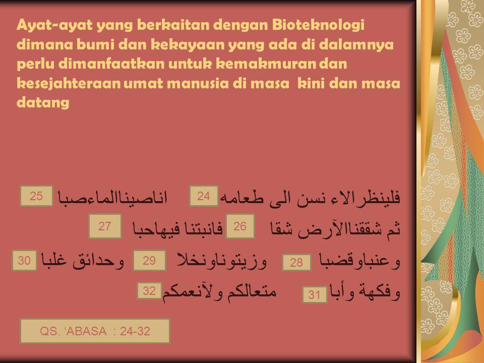 Soal 5: 5.Di bawah ini merupakan kelompok bioteknologi modern ….