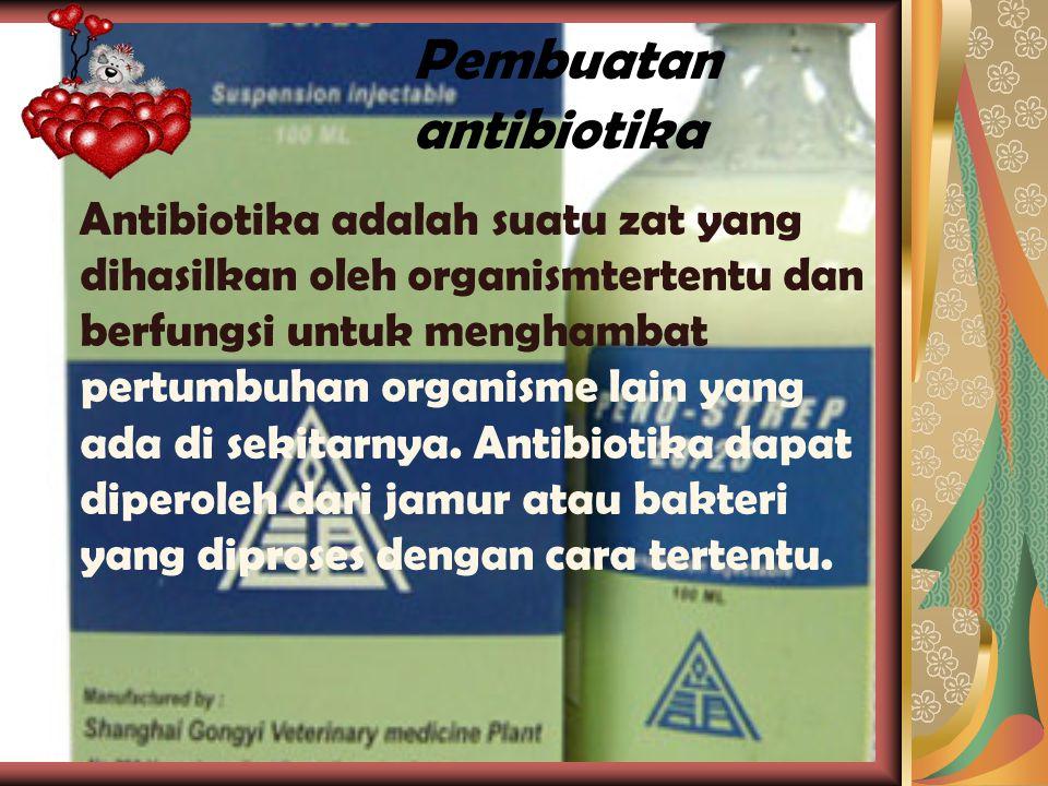 Pembuatan vaksin Vaksin digunakan untuk mencegah serangan penyakit terhadap tubuh yang berasal dari mikroorganisme.