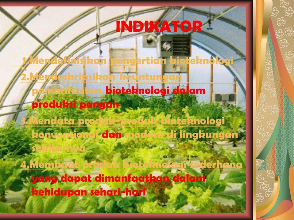 Produk-produk Bioteknologi Konvensional NO.ProdukEnzimBahan makanan Mikroorganisme 1.