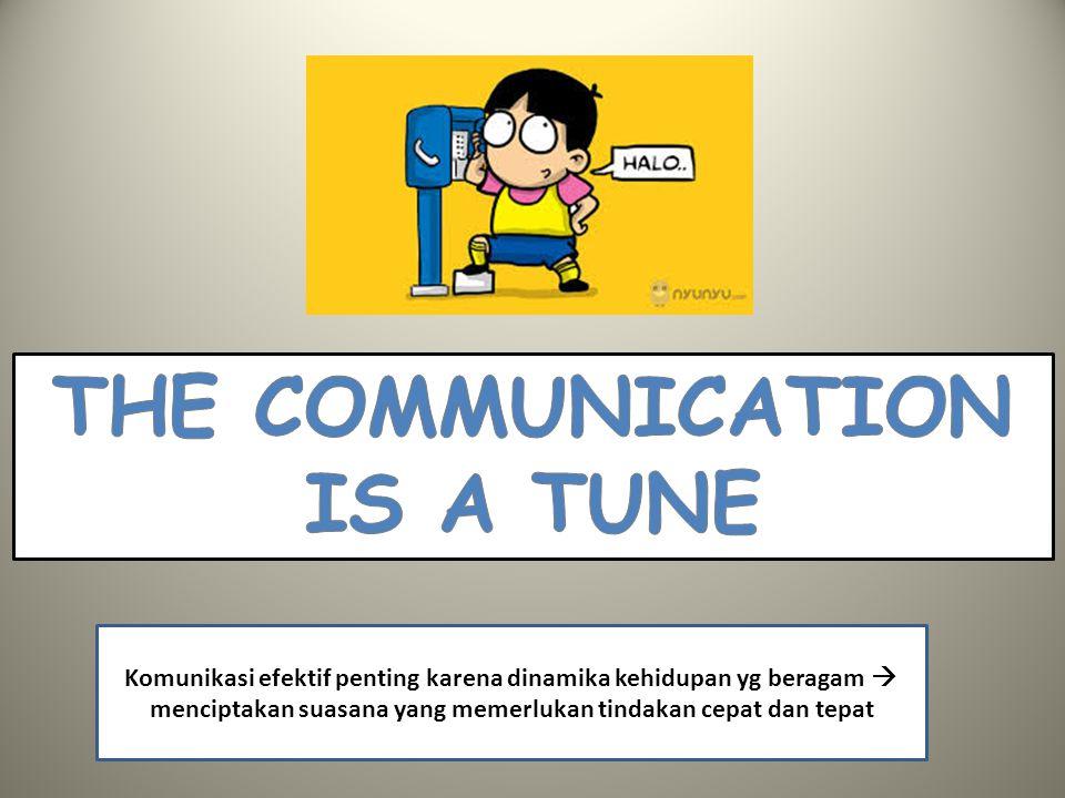 Komunikasi efektif penting karena dinamika kehidupan yg beragam  menciptakan suasana yang memerlukan tindakan cepat dan tepat