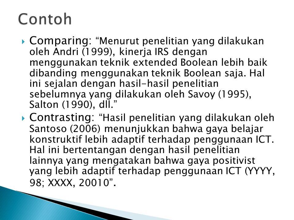  Jurnal Ilmiah Yang Diterbitkan IEEE dan ACM  IEEE Transaction, ACM Journal (FTI Berlangganan)  Jurnal Ilmiah Yang Diterbitkan Asosiasi Ilmiah Lain  Elsevier.Com, EBSCOhost.Com (Perpustakaan UKSW)  Thesis dan Disertasi  Buku Ilmiah  Conference Proceedings (yang diterbitkan oleh IEEE Computer dan ACM)  Jurnal Ilmiah Indonesia yang telah terakreditasi oleh DIKTI