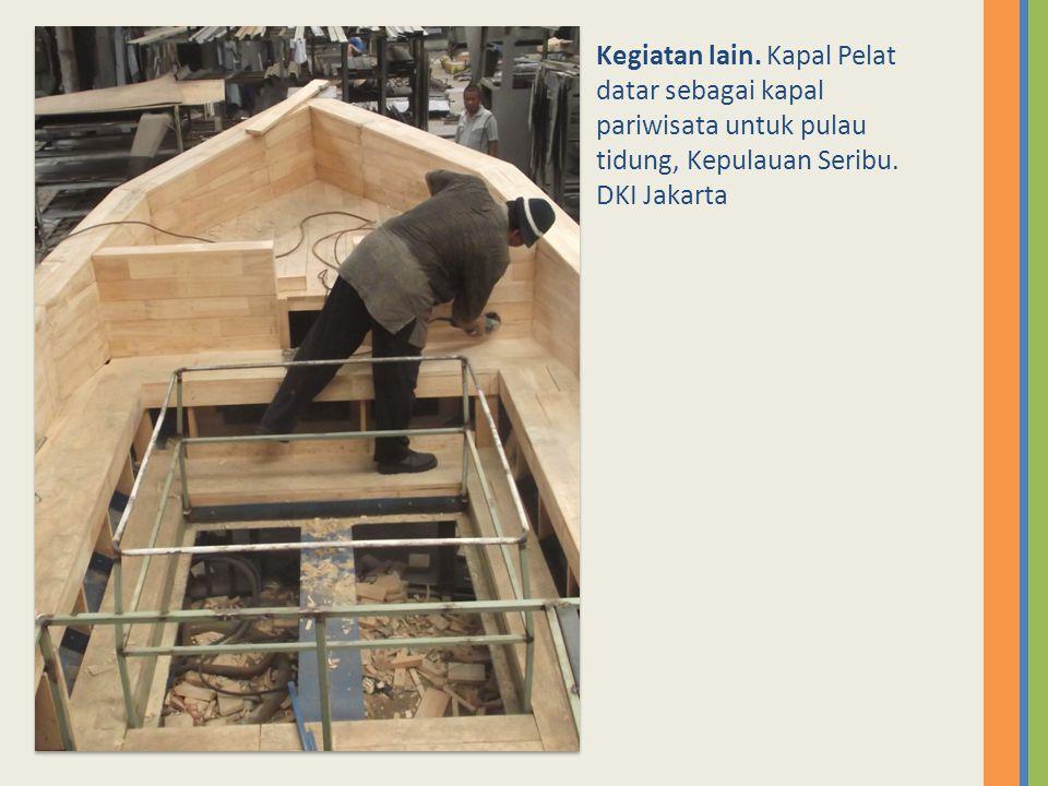 Kegiatan lain. Kapal Pelat datar sebagai kapal pariwisata untuk pulau tidung, Kepulauan Seribu. DKI Jakarta