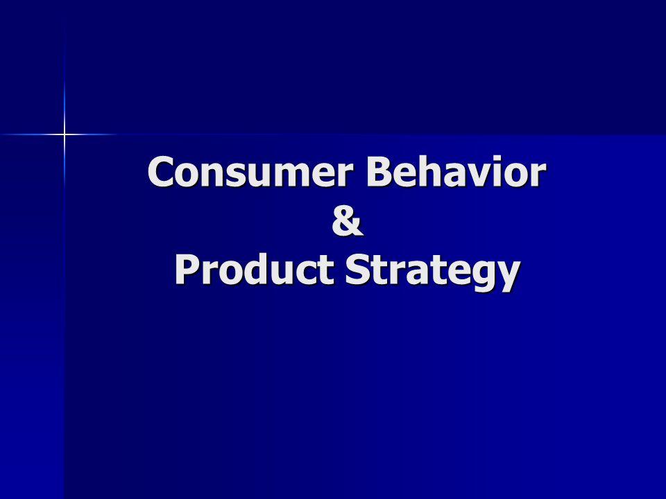 Consumer Behavior & Product Strategy
