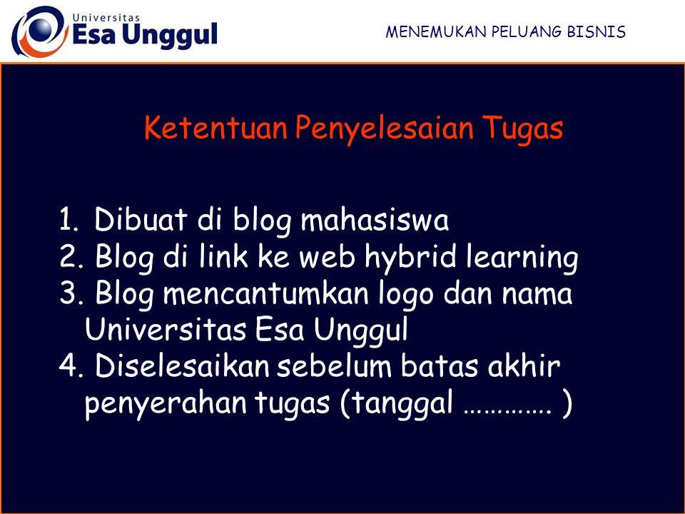 1.Dibuat di blog mahasiswa 2. Blog di link ke web hybrid learning 3.