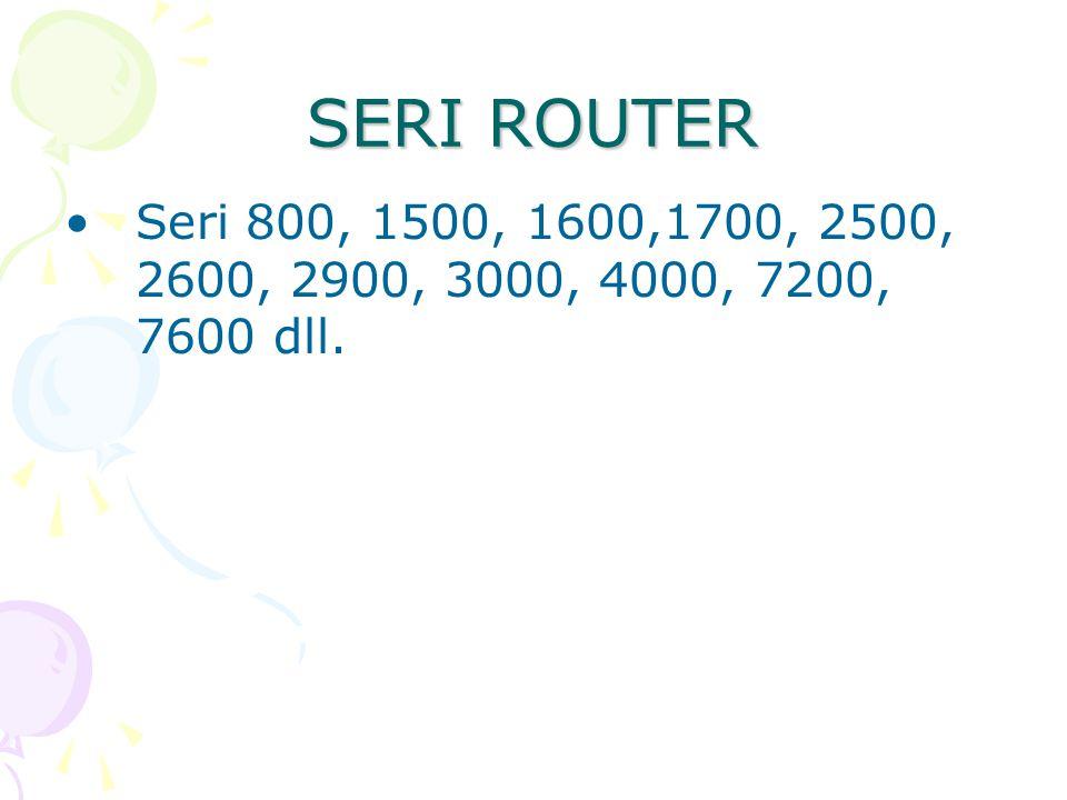 SERI ROUTER Seri 800, 1500, 1600,1700, 2500, 2600, 2900, 3000, 4000, 7200, 7600 dll.