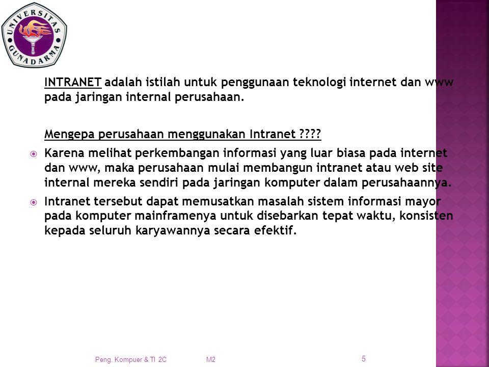 INTRANET adalah istilah untuk penggunaan teknologi internet dan www pada jaringan internal perusahaan.