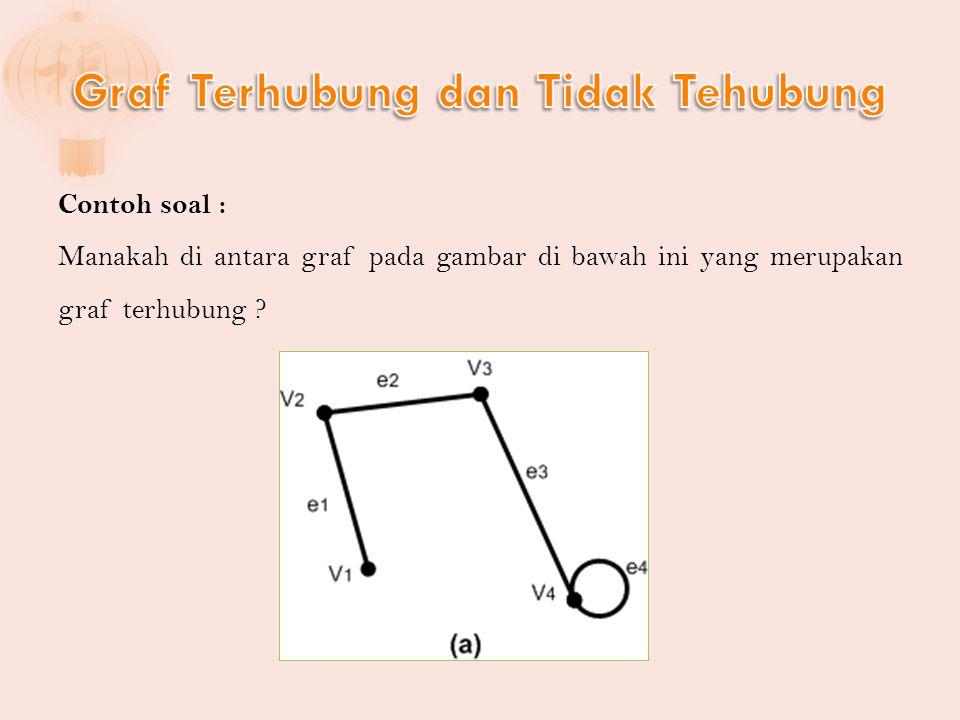 Penyelesaian: c.Titik terasing adalah titik v 6. titik pendan adalah v 2 d.