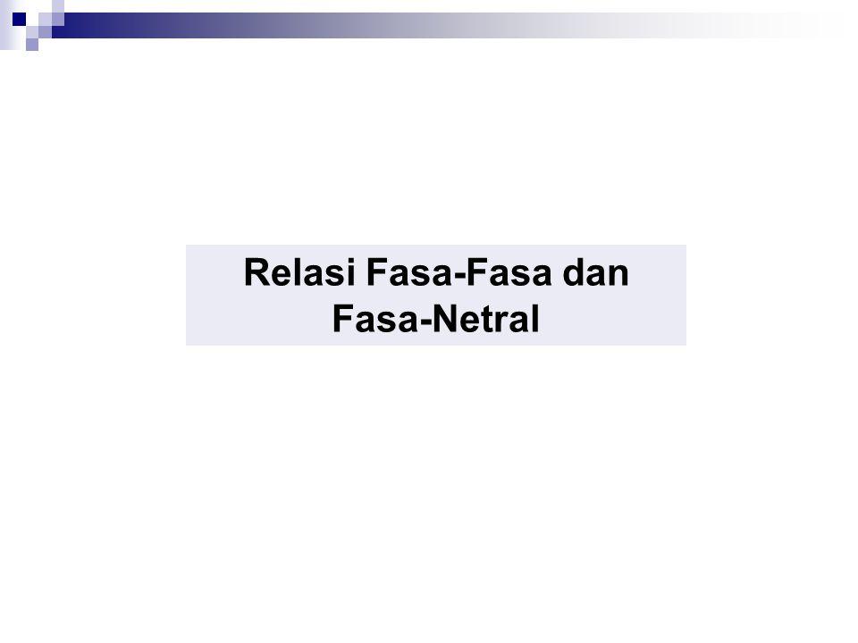 Harmonisa pada Sistem Tiga Fasa, Relasi Fasa-Fasa dan Fasa-Netral Relasi Tegangan Fasa-Fasa dan Fasa-Netral Pada tegangan sinus murni, relasi antara tegangan fasa-fasa dan fasa-netral dalam pembebanan seimbang adalah Teganagn fasa - netralTegangan fasa - fasa Apakah relasi ini berlaku untuk sinyal nonsinus?