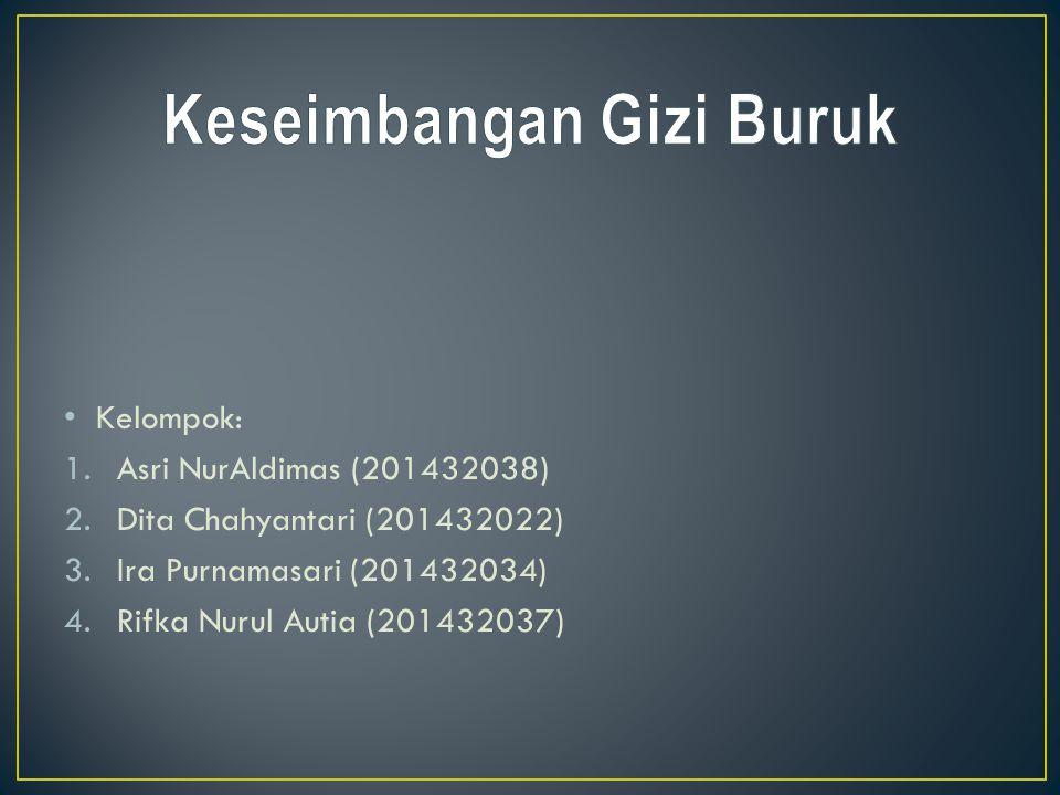 Kelompok: 1.Asri NurAldimas (201432038) 2.Dita Chahyantari (201432022) 3.Ira Purnamasari (201432034) 4.Rifka Nurul Autia (201432037)