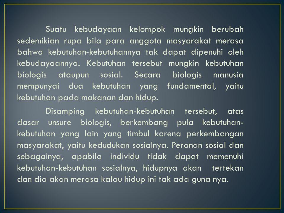 faktor-faktor ekonomis, biologis, biopsikologis dan kebudayaan.