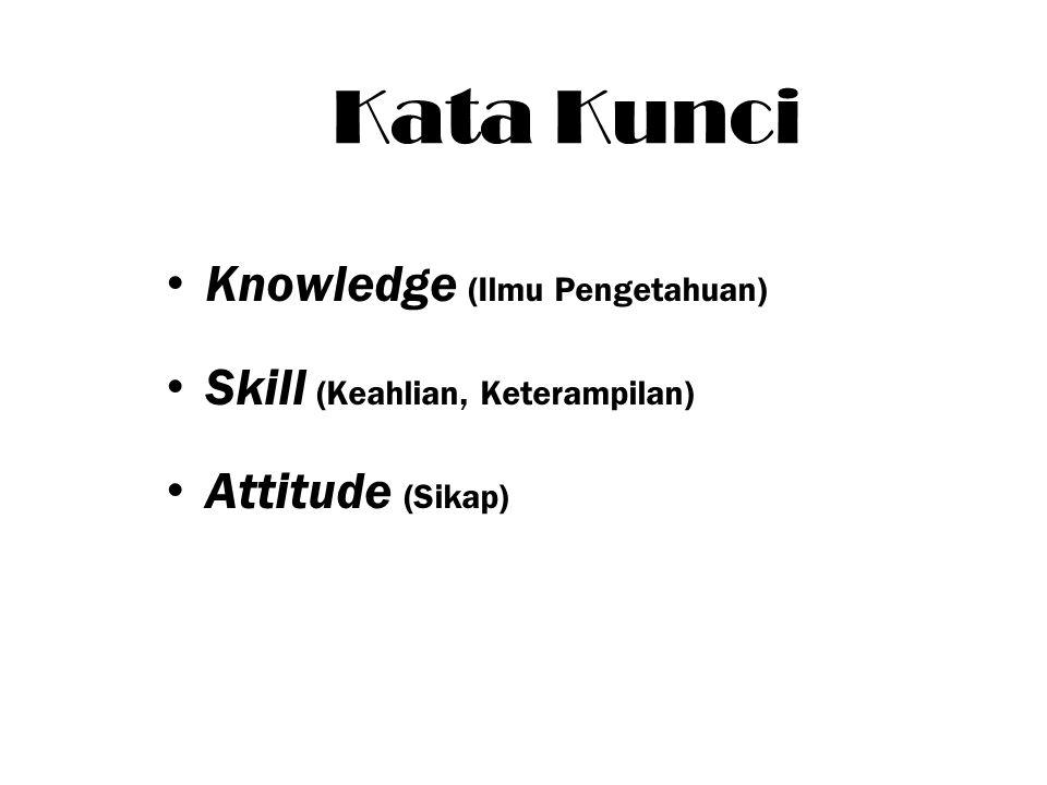 Kata Kunci Knowledge (Ilmu Pengetahuan) Skill (Keahlian, Keterampilan) Attitude (Sikap)