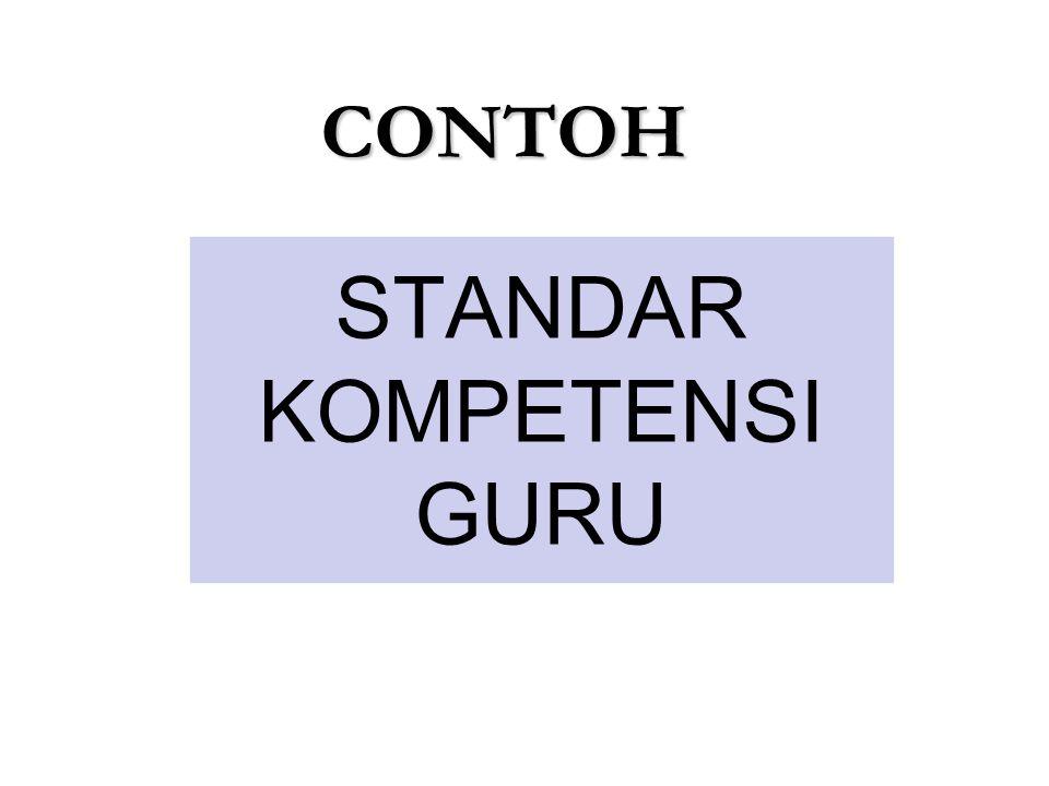 STANDAR KOMPETENSI GURU CONTOH