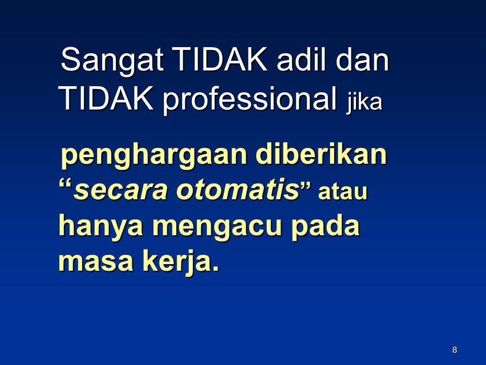 Pengembangan profesi bukan untuk menambah guru dengan golongan IVa ke atas, tetapi memperbanyak guru yang profesional sebagai penghargaan bagi guru profesional, diberi penghargaan, di antaranya kenaikan golongannya 18