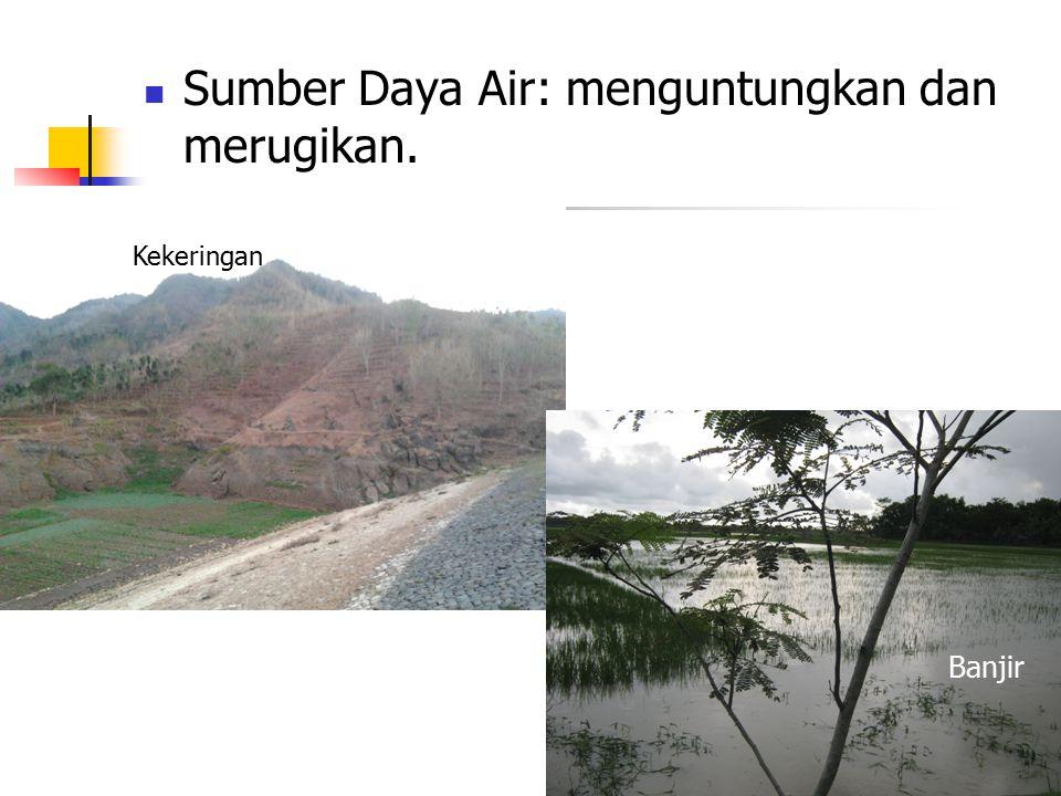 Sumber Daya Air: menguntungkan dan merugikan. Kekeringan Banjir
