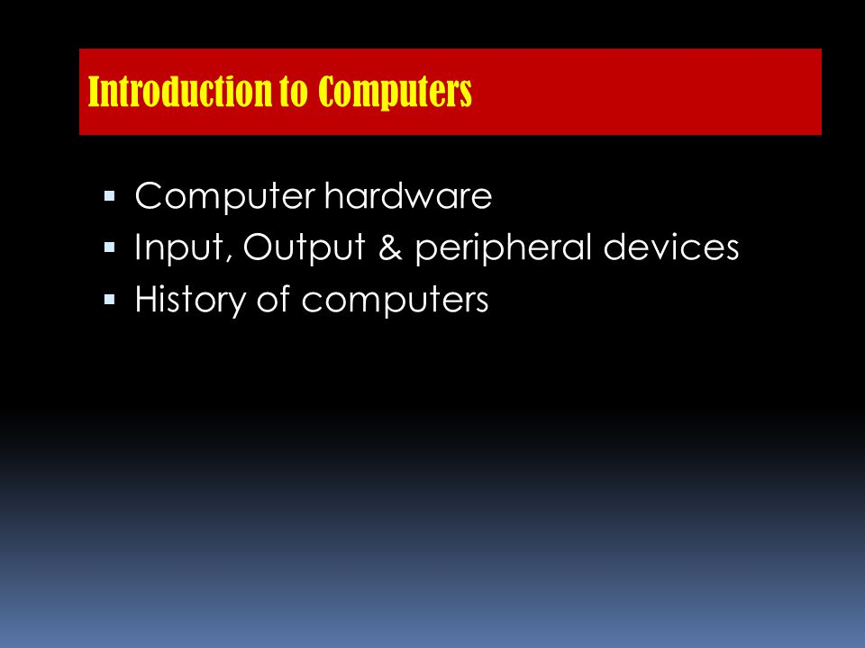 History of Computers  Man from centuries ago used a physical unit or sets of units to represent numbers or quantities.