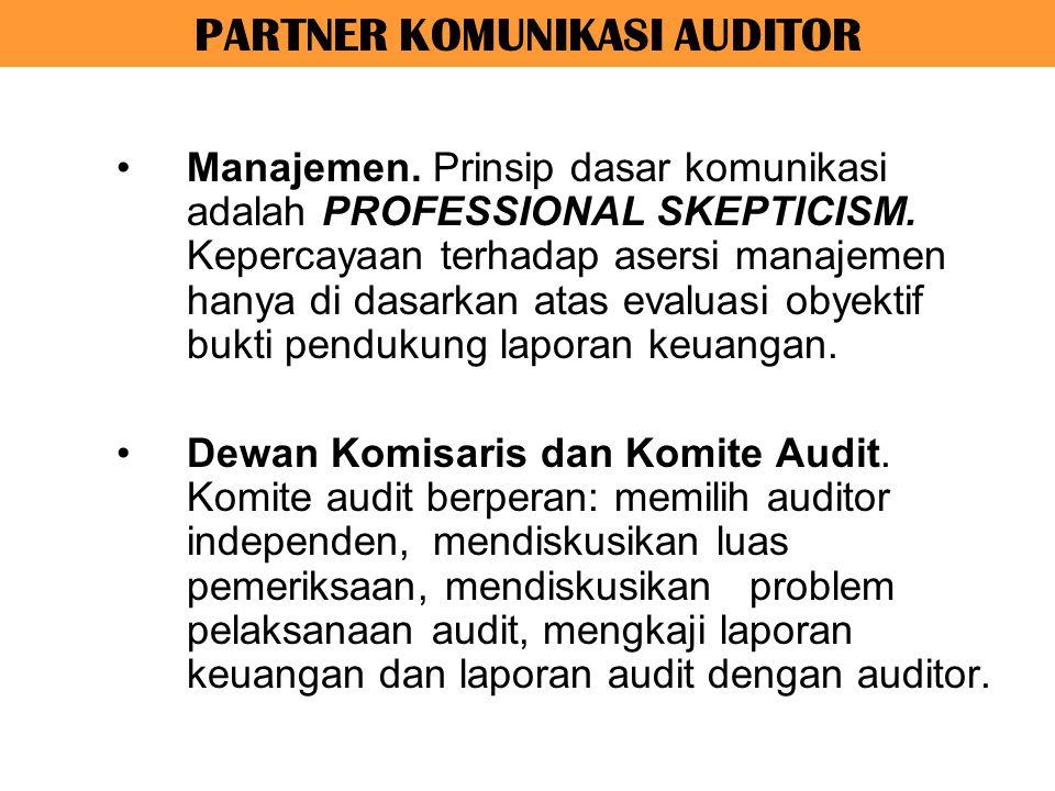Audit dilakukan secara profesional, dengan kompetensi teknis yang memadahi, integritas tinggi, independen, dan obyektif.