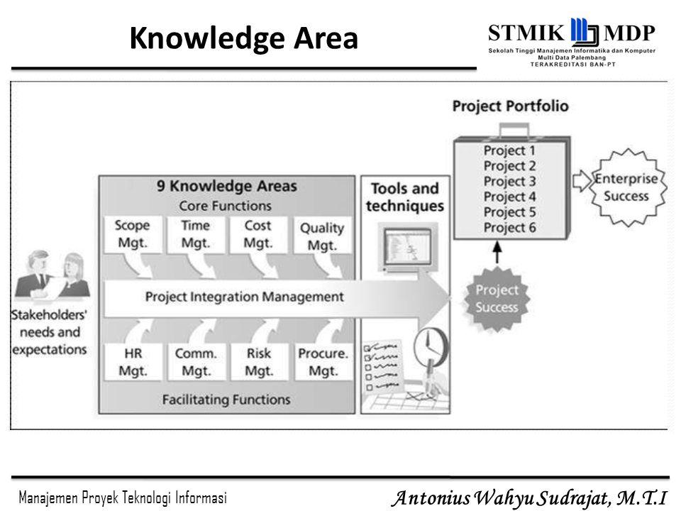 Manajemen Proyek Teknologi Informasi Antonius Wahyu Sudrajat, M.T.I Knowledge Area