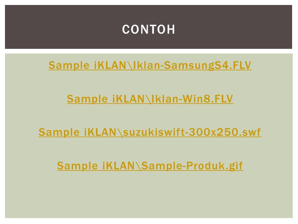 Sample iKLAN\Iklan-SamsungS4.FLV Sample iKLAN\Iklan-Win8.FLV Sample iKLAN\suzukiswift-300x250.swf Sample iKLAN\Sample-Produk.gif CONTOH