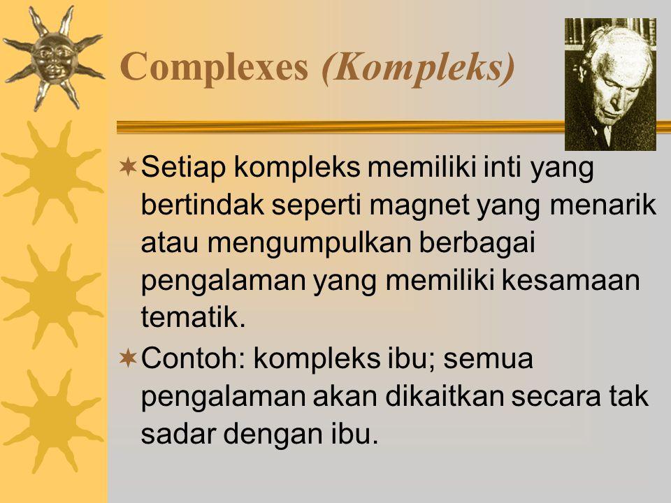 Complexes (Kompleks)  Setiap kompleks memiliki inti yang bertindak seperti magnet yang menarik atau mengumpulkan berbagai pengalaman yang memiliki kesamaan tematik.