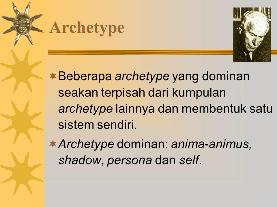 Archetype  Beberapa archetype yang dominan seakan terpisah dari kumpulan archetype lainnya dan membentuk satu sistem sendiri.